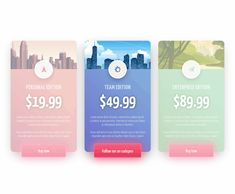 In this snippet is a set of three pricing table cards with some wonderful hover transitions and animations, all this done in pure CSS. Coded by Jamie - posted under by Fribly Editorial Web Design Websites, Web Design Quotes, Web Design Tips, Web Design Tutorials, Web Design Trends, Design Strategy, Web Design Inspiration, App Design, Design Projects