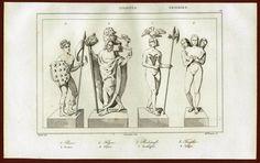 Deities - Prono Flins Radegast Triglav. Germany. 1841. - 2