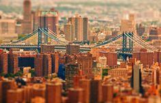 Ces villes ressemblent à des maquettes grâce au tilt shift