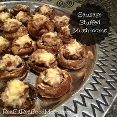 Sausage Stuffed Mushrooms by Real Fit, Real Food Mom