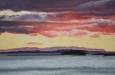 Sunrise over Rathlin - Paintings