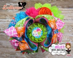 """""""Hit Like A Girl"""" OTT boutique hair bow Dollhouse Market An Auction Style Event Opens 3/24/15 at 5 PM CST Closes at 3/26/15 at 9 PM CST Purchase Here: www.facebook.com/dollhousedesigngroup"""