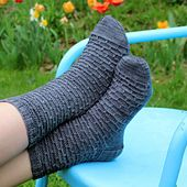 Best Babysitter Socks: A Knitting Pattern by Lisa Beth Houchins and Meanest Mommy Knits. I designed these socks for my dad, the best babysitter in the world. Sometimes we get home and he has taken the kids to the park, mowed the lawn, fixed a leaky faucet, or cleaned the stove. Other times we get home, and he's taking a nap and all the ice cream is gone. That's okay. He's earned it. No matter who your best babysitter is, he or she would appreciate these hand knit socks.