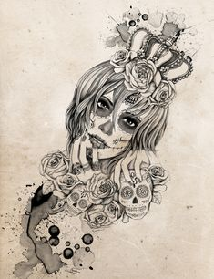 Sugar Skull Queen by Vivian Lau