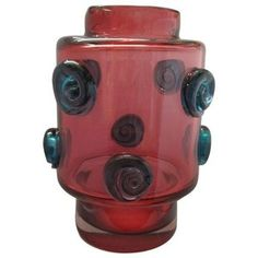 Modernist Czech Glass Vase, Hospodka Prachen
