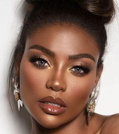 A stunning collection of beautiful makeup ideas Black Wedding Makeup, Black Girl Makeup, Wedding Makeup Looks, Girls Makeup, Simple Wedding Makeup, Natural Wedding Makeup, Bride Makeup, Glam Makeup, Beauty Makeup