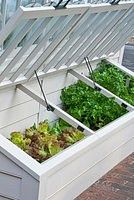Potager Garden Garden - How to Use a Cold Frame to Grow Cold-tolerant Crops- Backyard Vegetable Gardens, Veg Garden, Garden Boxes, Outdoor Gardens, Garden Tips, Garden Plants, Garden Frame, Brick Garden, Potager Garden