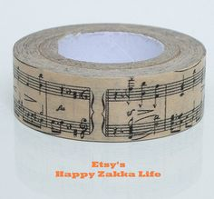 Japanese Washi Masking Tape Classic Music 11 yards by zakkalover, $2.80