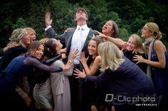 Photo de mariage comique