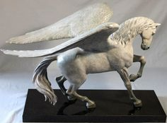 Limited edition bronze Pegasus. This work was first developed for the book, The Charmed Realm, written and illustrated by Vanessa and Paul Kidby.