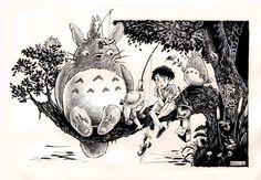 #totoro #miazaky #ghibli #studioghibli #art #drawing #blackandwhite Cartoon Drawings, Drawing Sketches, Woodburning, Totoro, Studio Ghibli, Artworks, Moose Art, Cartoons, Doodles
