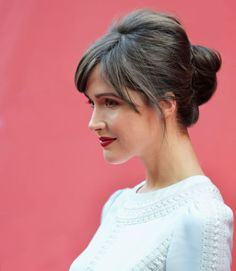 Elegant styles can have bangs, too. Just be sure to style them like Rose Byrne's, so they don't keep going into your eyes — what's the point of going to a special event if you can't actually see anyone?