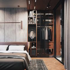 Design and visualization of the apartment.cleaning it up will provide reasons to go build the universe Home Interior, Interior Design Living Room, Modern Interior, Luxury Interior, Home Bedroom, Modern Bedroom, Bedroom Decor, Bedroom Goals, Luxurious Bedrooms