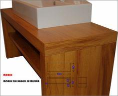 Mobile bagno artigianale in legno Iroko design by gabriellapontis.com