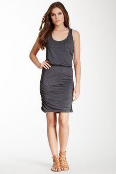 Ruched Pocket Dress