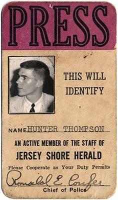 Carnet de prensa de Hunter S. Thompson
