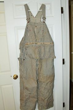 Vintage Montgomery Ward Railroad Coveralls with Zippered Tool Pouch
