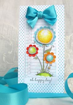 happy day flowers by melstampz, via Flickr..love the silver embossing..she is so good!