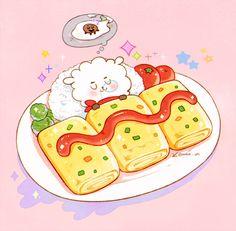 Lol, I wish KOYA was in this one too! Kpop, Arte Do Kawaii, Arte Sailor Moon, Chibi Food, Line Friends, Bts Drawings, Cute Doodles, Fan Art, Bts Chibi