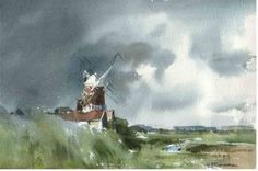 "Saatchi Art Artist Chris Robinson; , ""Cley Mill"" #art"