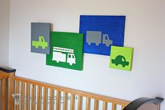 Painted Canvas Tutorial--Kids Room Wall Decor