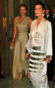Princess Charlene and Princess Caroline of Monaco