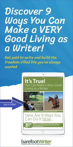 Discover 9 Ways You Can Make a VERY Good Living as a Writer! Hundreds of writers, just like you have escaped the grind and now write for money — good money. learn how here. How To Become, How To Get, Copywriting, Live For Yourself, You Can Do, Need To Know, Writers, Teaching, Money