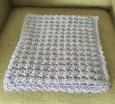 Cluster stitch baby blanket