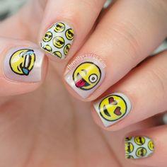 Emoji Nail Art and Some New Kit from MoYou nail stamping kit uk - Nail Stamping Emoji Nail Art And Some New Kit From Moyou French Nail Art, French Nail Designs, Simple Nail Art Designs, Cute Nail Designs, Emoji Nails, Uk Nails, Nails For Kids, Nail Art Images, Nail Art Blog