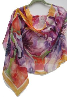 PURPLE AZALEA Silk Wrap by SilkSiren on Etsy, $200.00