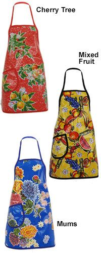Mexican Oilcloth Fun & Fruity Apron at The Animal Rescue Site
