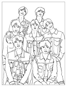 samsung wallpaper bts BTS Love Yourself: Tear denim Coloring Page Colouring Pages, Coloring Books, Printable Christmas Coloring Pages, Easy Canvas Art, Kpop Drawings, Simple Cartoon, Bts Love Yourself, Korean Art, Bts Chibi