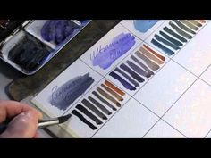 Mixing colours for watercolour painting - Alek Krylow.