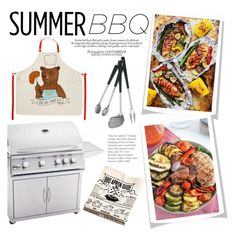 """Summer BBQ (Contest Entry)"" by raniaghifaraa ❤ liked on Polyvore featuring interior, interiors, interior design, home, home decor, interior decorating and Dot & Bo"