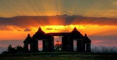 sunset of boko temple