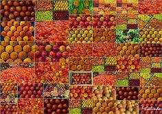 Mosaico del Melocotón de Cieza.  De Fernando Galindo Tormo The best Peaches, from Cieza (Murcia)