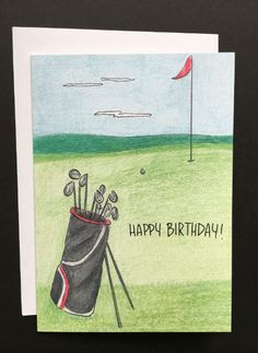 Happy Birthday Golf Wishes Cards Hole In