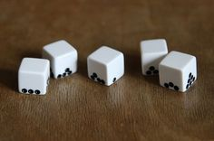 dice dots are affected by gravity