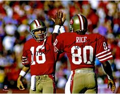 fe5316b7 Joe Montana, Jerry Rice San Francisco 49ers Dual Signed 11