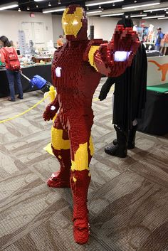 Ironman life-size LEGO sculpture, by 14-year-old Evan Bacon