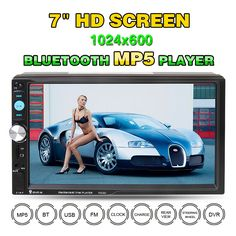 Universal 2 Din Car DVD Double Din Car Video Player Touch Screen Panel Car Audio Player 7023D Support FM/MP5/USB/AUX/Bluetooth