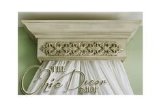 Bed Crown Canopy 32 Wide Crib Crown Antiqued & by TheChicDecorShop, $149.95