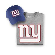 Men s New York Giants NFL Pro Line by Fanatics Branded Royal Gray T-Shirt  and Hat Bundle c4f2ef52c