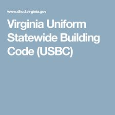 Virginia Uniform Statewide Building Code (USBC)