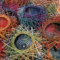 """I'm weaving a series of small """"hairy nests"""" for the Philadelphia Museum of Art Craft Show in Nov. 2014, and for CraftBoston - Holiday 2014, sponsored by The Society of Arts and Crafts in December. (They're about 2.5"""" x 6"""" and will be $95 each.) For more information, go to www.pmacraftshow.org and www.craftboston.org"""