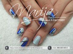 interesting design by marija7 - Nail Art Gallery nailartgallery.nailsmag.com by Nails Magazine www.nailsmag.com #nailart