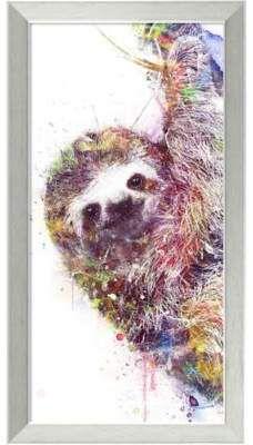 Amanti Art Sloth 14-Inch x 26-Inch Framed Wall Art.afflink