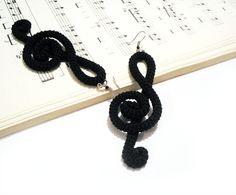 Crochet Treble earrings