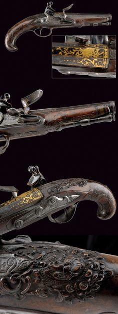 A fine flintlock pistol.    provenance: France dating: mid-18th Century.