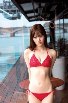 Sexy Bikini, Bikini Rot, The Bikini, Bikini Girls, Cute Asian Girls, Beautiful Asian Girls, Cute Girls, Beautiful Chinese Women, Cute Japanese Girl